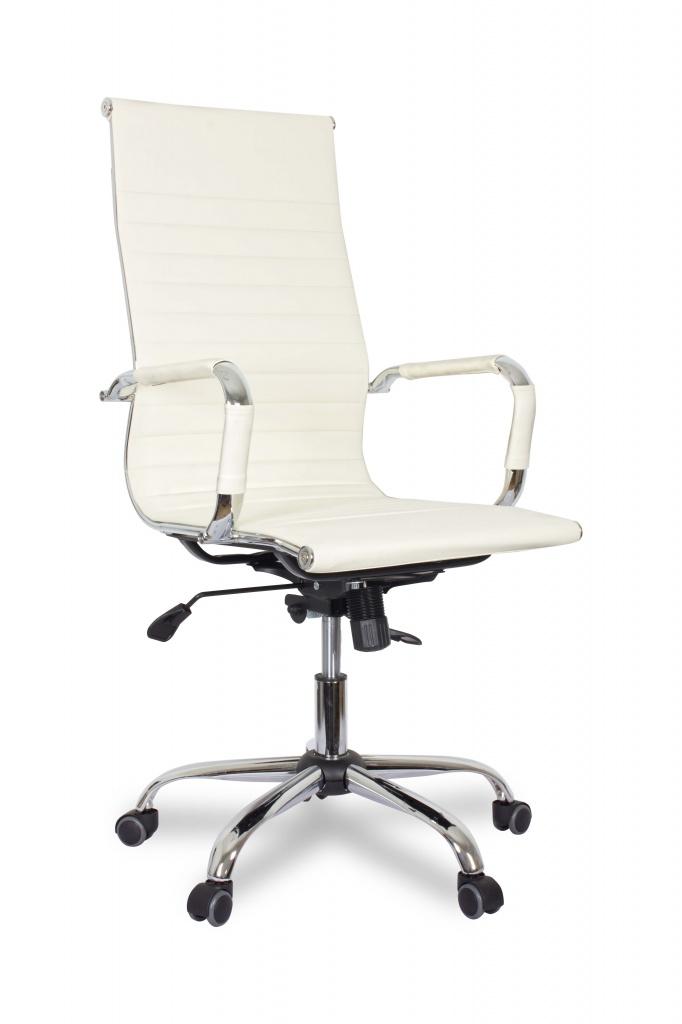 Кресло руководителя COLLEGE XH-632ALX Бежевый экокожа крестовина/подлокотники-хром. металл, до 120кг кресло руководителя college bx 3001 1 экокожа коричневый