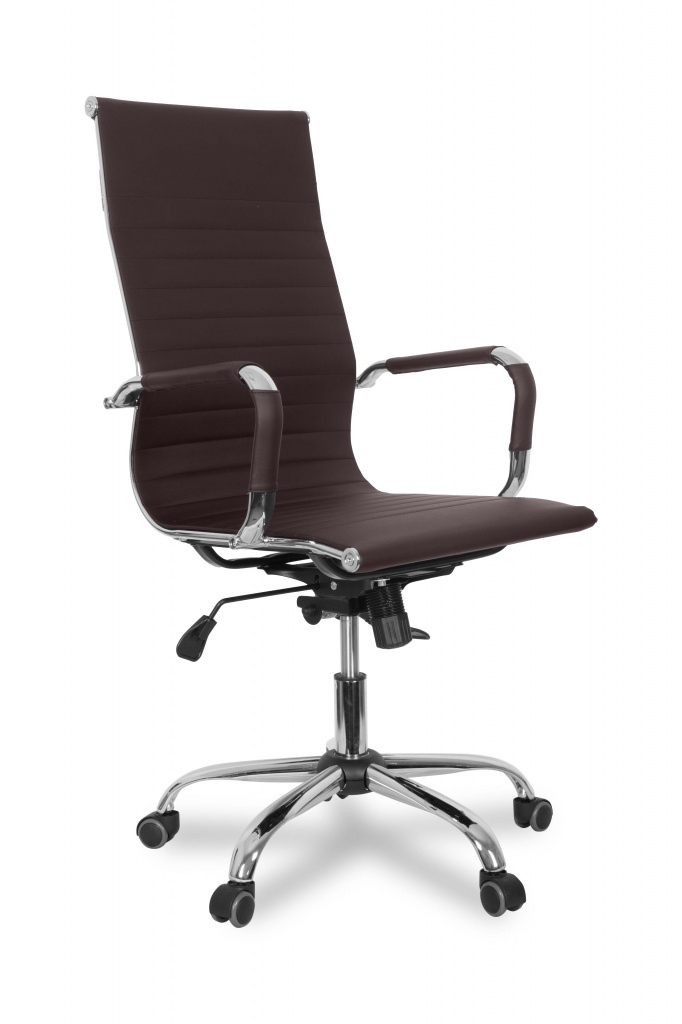Кресло руководителя COLLEGE CLG-620 LXH-A (XH-632ALX) Коричневый экокожа крестовина/подлокотники-хром, 120кг цена в Москве и Питере