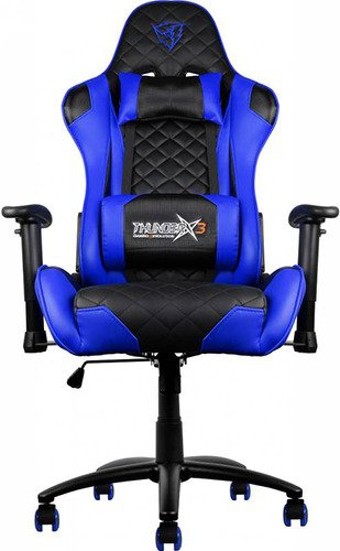 Кресло компьютерное игровое Thunder X3 TGC12 сине-черный TGC12-BB игровое компьютерное кресло oh fd99 n