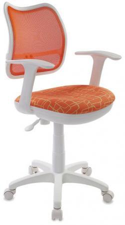 Кресло детское Бюрократ CH-W797/OR/GIRAFFE спинка сетка оранжевый сиденье оранжевый жираф Giraffe