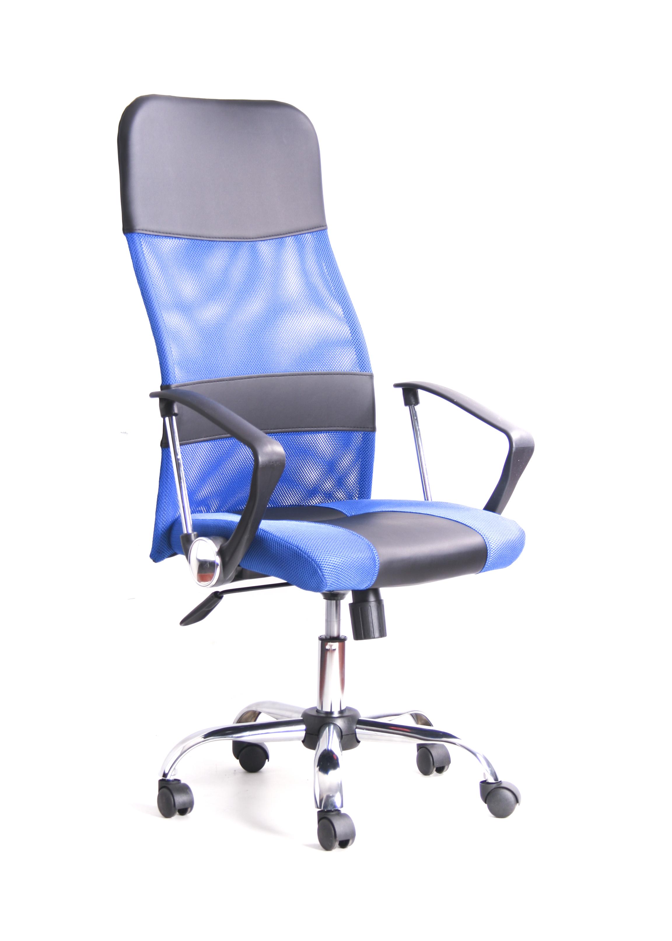 купить Кресло Recardo Smart Синий сетка/кожа, 120кг, газлифт/качание/откидывание по цене 5490 рублей