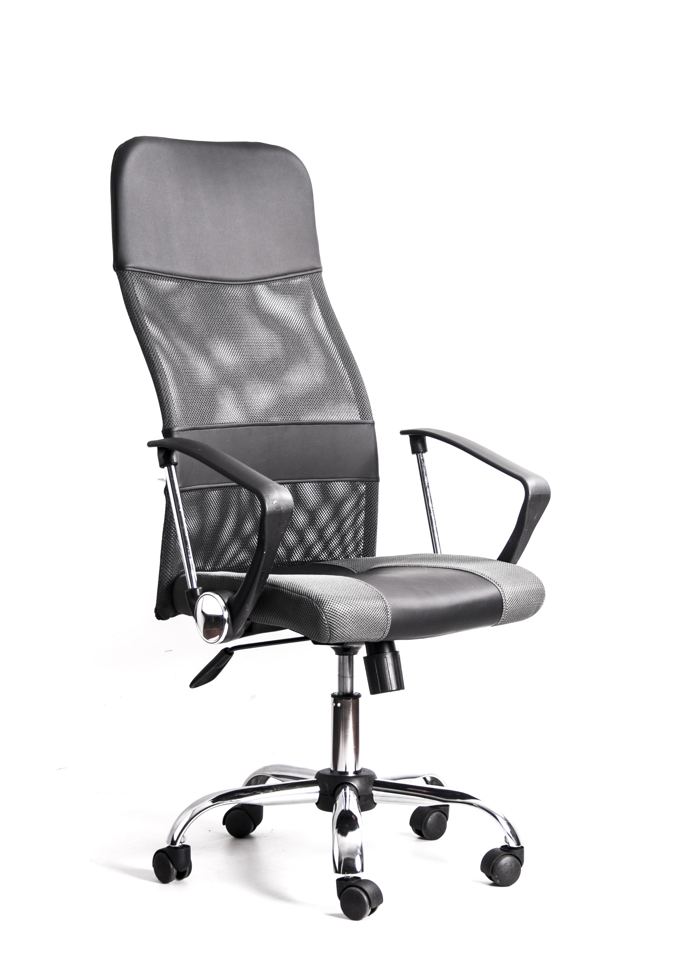 Кресло Recardo Smart Серый сетка/кожа, 120кг, газлифт/качание/откидывание кресло recardo smart 60 черный 60 gtphch1 w01 t01