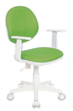 Кресло Buro Ch-W356AXSN 15-118 белый пластик ткань светло-зеленый 15-118