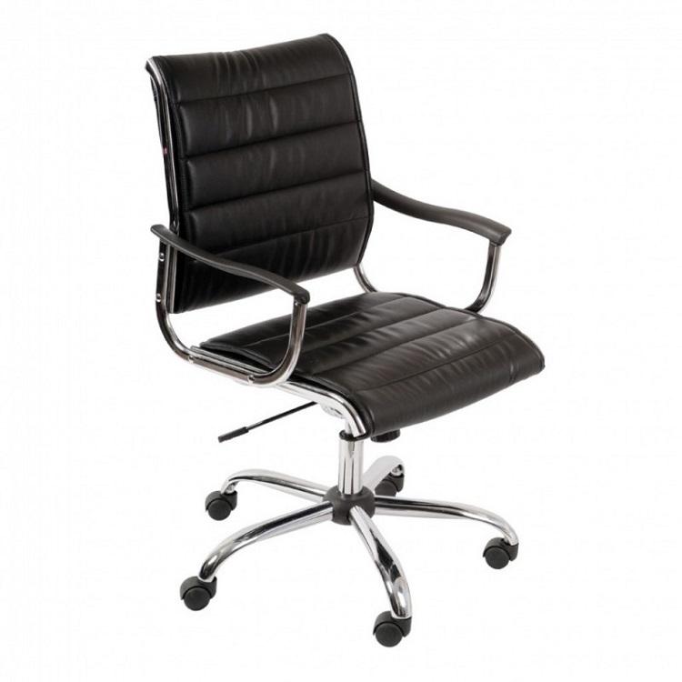 Кресло Buro CH-994AXSN хромированная крестовина металлические подлокотники с пластиковыми накладками