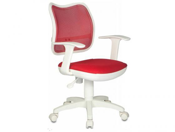 Кресло Бюрократ CH-W797/R/TW-97N спинка красный сетка TW-35N сиденье красный TW-97N белый пластик