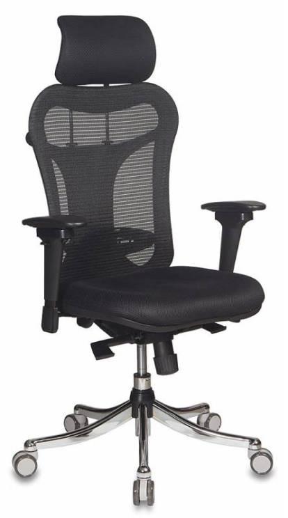 Кресло Buro CH-999ASX черный крестовина хром компьютерное кресло бюрократ ch 999asx black
