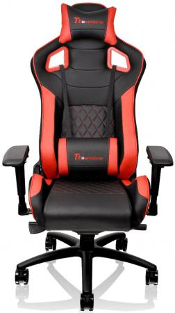 цена на Кресло компьютерное игровое Thermaltake GTF 100 черно-красный GC-GTF-BRMFDL-01