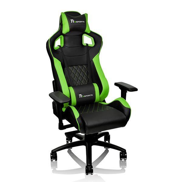 Кресло компьютерное игровое Thermaltake GTF 100 черно-зеленый GC-GTF-BGMFDL-01 цена