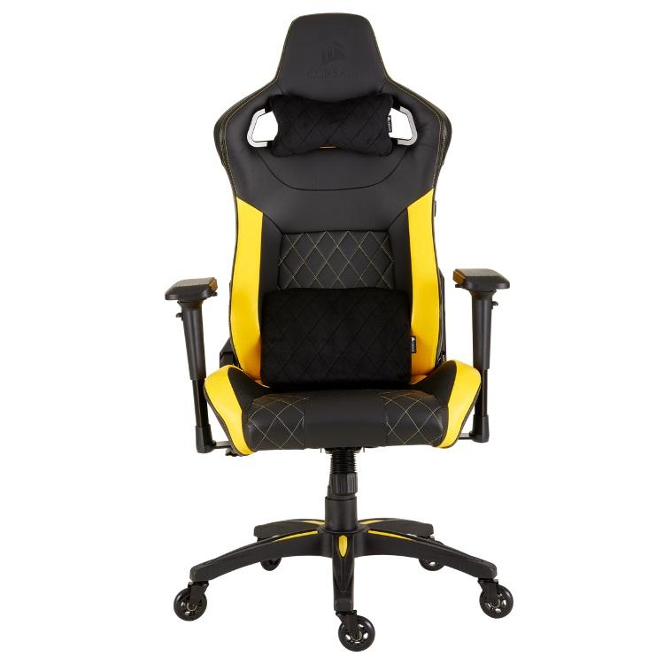 Кресло игровое Corsair Gaming T1 RACE 2018 чёрный жёлтый CF-9010015-WW
