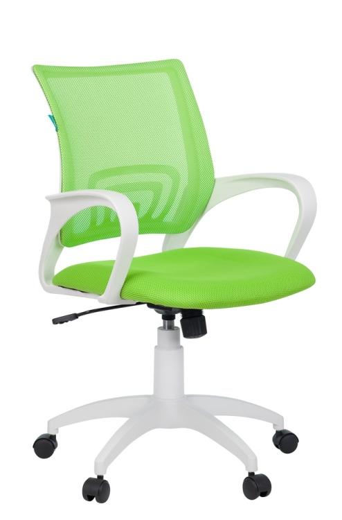 Кресло Бюрократ CH-W695N/SD/TW-18 салатовый сетка/ткань (пластик белый)