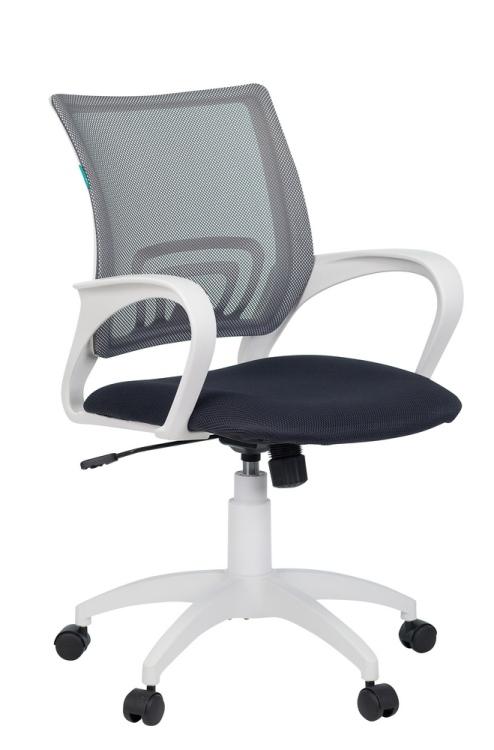 Кресло Бюрократ CH-W695N/DG/TW-12 темно-серый сетка/ткань (пластик белый)