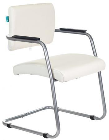 Кресло Бюрократ CH-271N-V/SL/OR-10 на полозьях молочный искусственная кожа