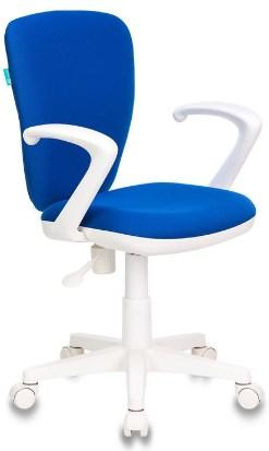 Кресло Бюрократ KD-W10AXSN/26-21 синий 26-21 (пластик белый)