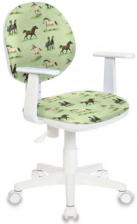 Кресло детское Бюрократ CH-W356AXSN/HORSE-GN рисунок зеленый