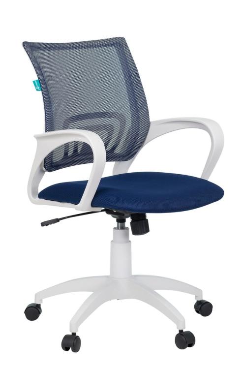 Кресло Бюрократ CH-W695N/DB/TW-10N темно-синий сетка/ткань (пластик белый)