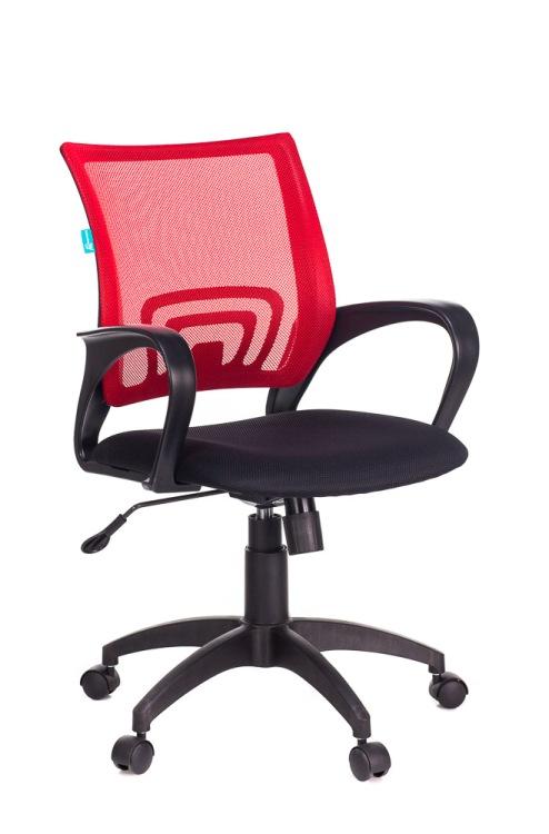Кресло Бюрократ CH-695N/R/TW-11 красный