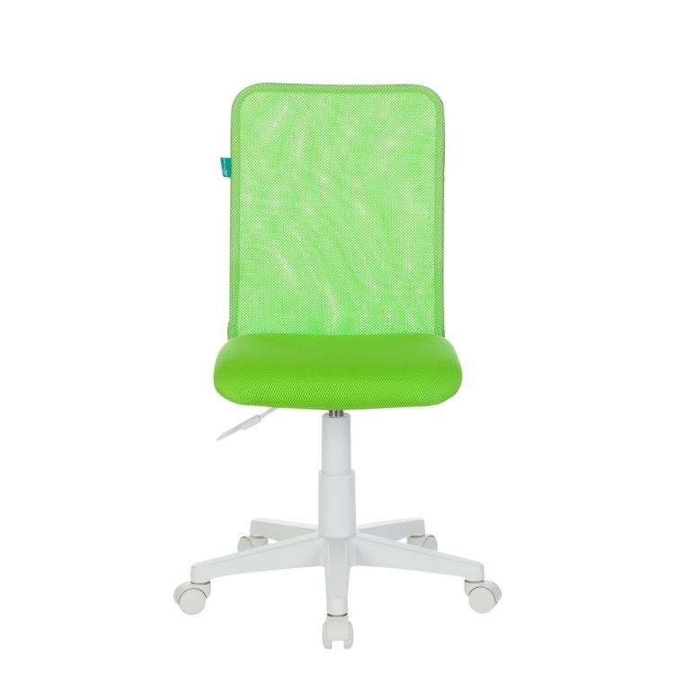 Кресло детское Бюрократ KD-9/WH/TW-18 салатовый TW-03А TW-18 сетка/ткань (пластик белый)