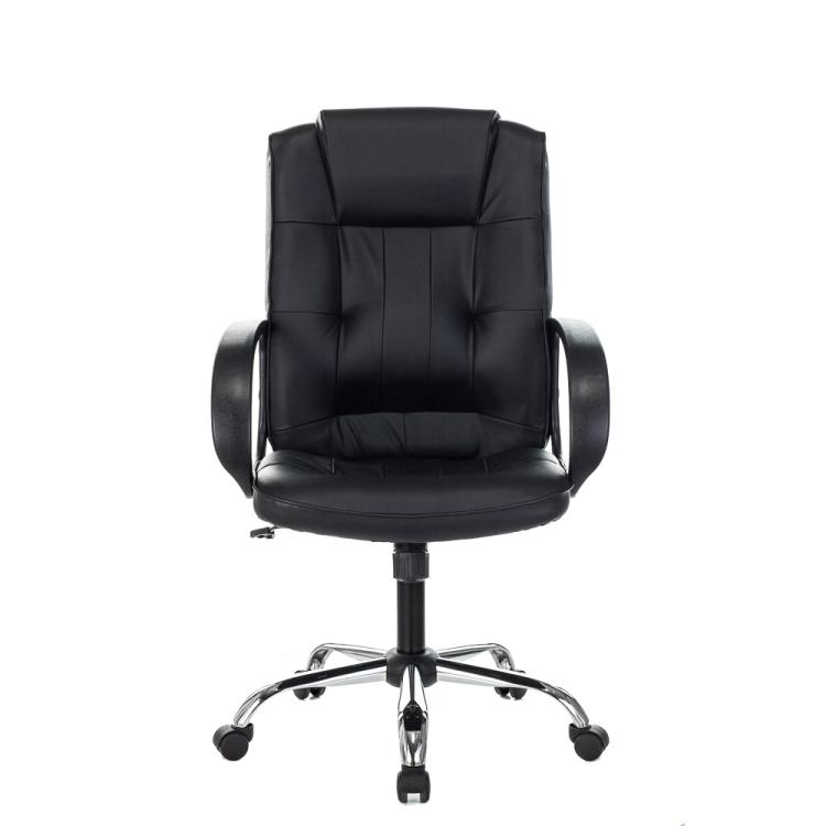Кресло руководителя Бюрократ T-800N/BLACK черный кожа крестовина хром кресло руководителя college h 9582l 1k экокожа крестовина хром подлокотники кожа хром черный