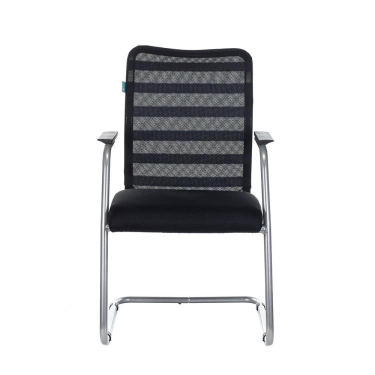 Кресло Бюрократ CH-599AV/32B/TW-11 на полозьях черный TW-32K01 сиденье черный TW-11 сетка/ткань