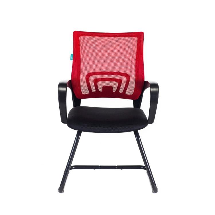 Кресло Бюрократ CH-695N-AV/R/TW-11 на полозьях красный TW-35N сиденье черный TW-11