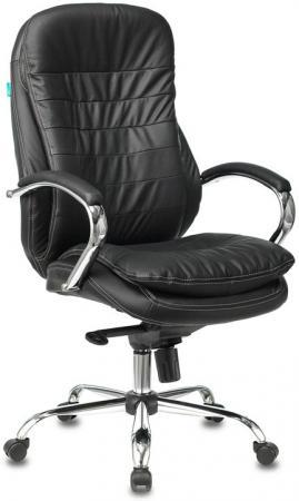 Кресло руководителя Бюрократ T-9950/BLACK черный кожа крестовина хром кресло руководителя college h 9582l 1k экокожа крестовина хром подлокотники кожа хром черный