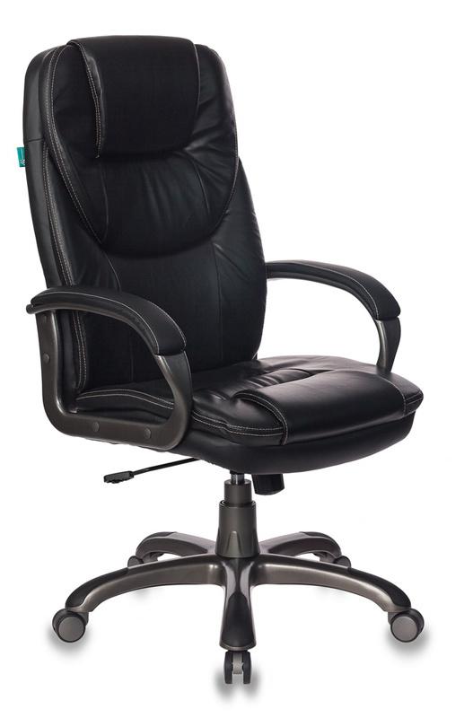 Кресло руководителя Бюрократ T-9905DG/BLACK черный искусственная кожа (пластик темно-серый)