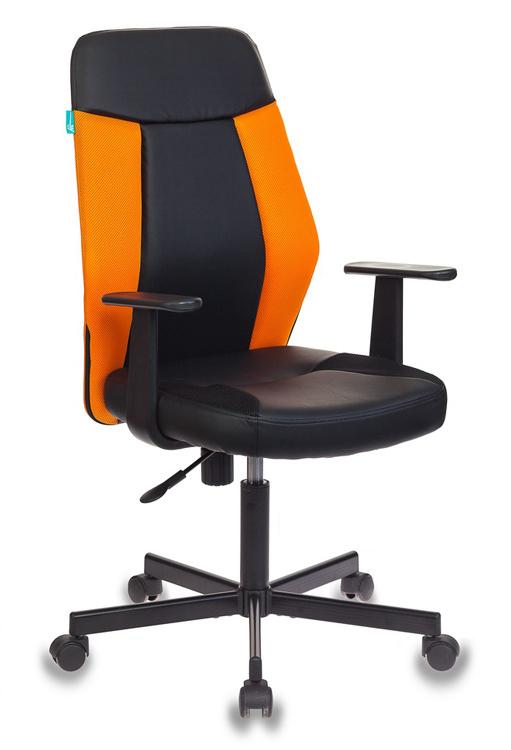 Кресло Бюрократ CH-606/BL+TW-96-1 черный/оранжевый искусст.кожа/ткань крестовина металл