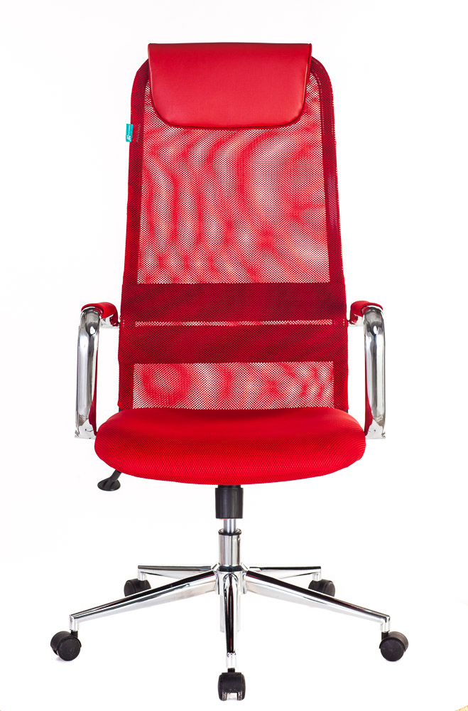 Кресло руководителя Бюрократ KB-9N/R/TW-97N красный TW-35N TW-97N сетка крестовина хром