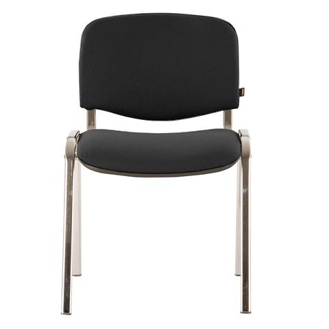 Стул для персонала и посетителей BRABIX Iso CF-001, хромированный каркас, ткань серая с черным, 53 стул союз мебель см 8 каркас черный ткань серая 2 шт