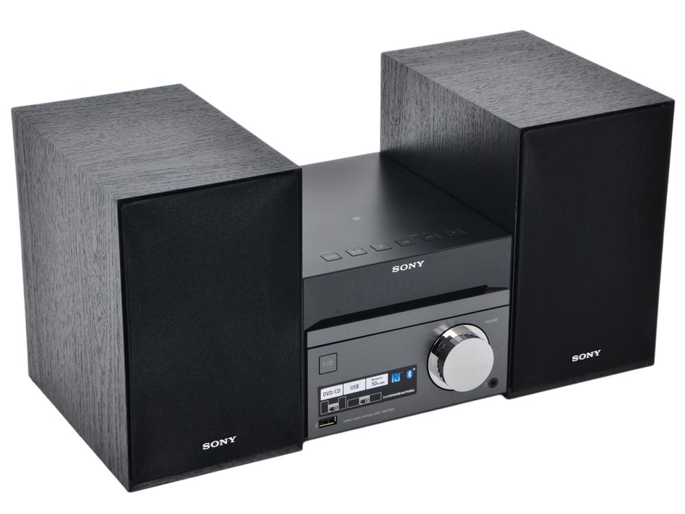 лучшая цена Музыкальный центр Sony CMT-SBT40D Микросистема CD, DVD, USB, FM, 50 , Blth, NFC