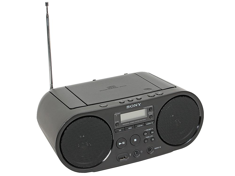 Аудиомагнитола Sony ZS-PS50CP Black CD-магнитола, мощность звука 4 Вт, MP3, тюнер AM, FM, воспроизведение с USB-флэшек тюнер flight owl black
