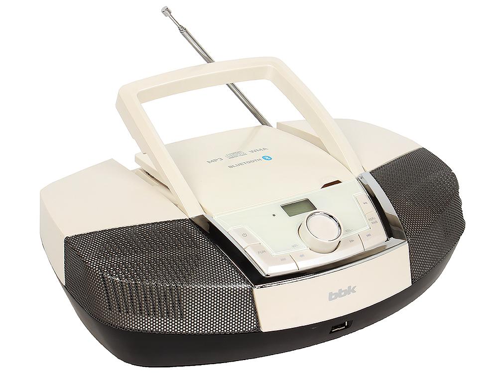 Аудиомагнитола BBK BX519BT белый металлик