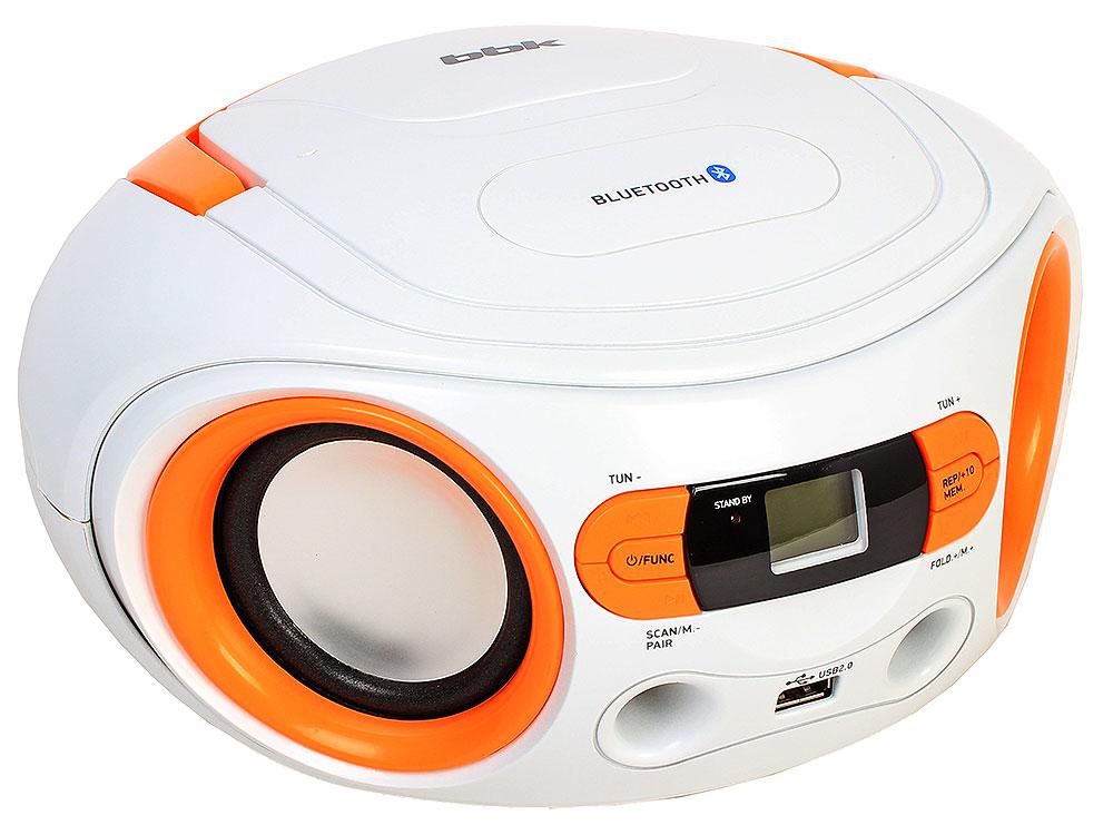 цена на Аудиомагнитола BBK BS15BT белый/оранжевый