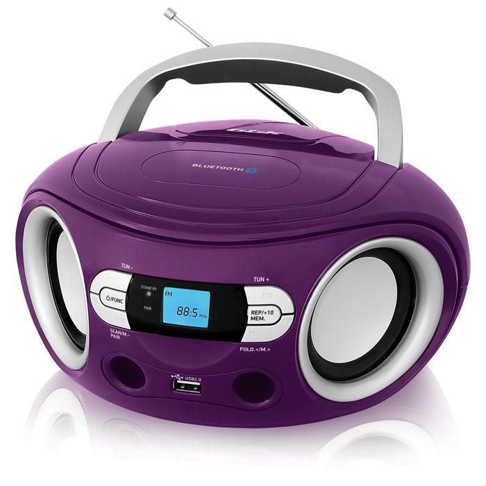 цена на Аудиомагнитола BBK BS15BT фиолетовый