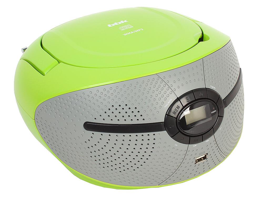 Аудиомагнитола BBK BX195U зеленый/серый аудиомагнитола bbk bx195u желтый