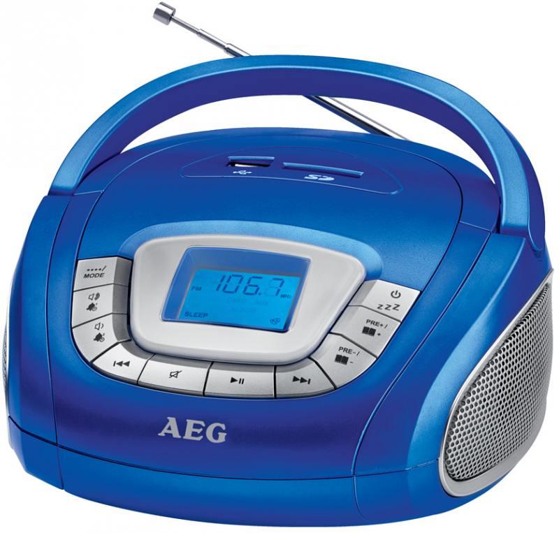 Магнитола AEG SR 4373 blau цена