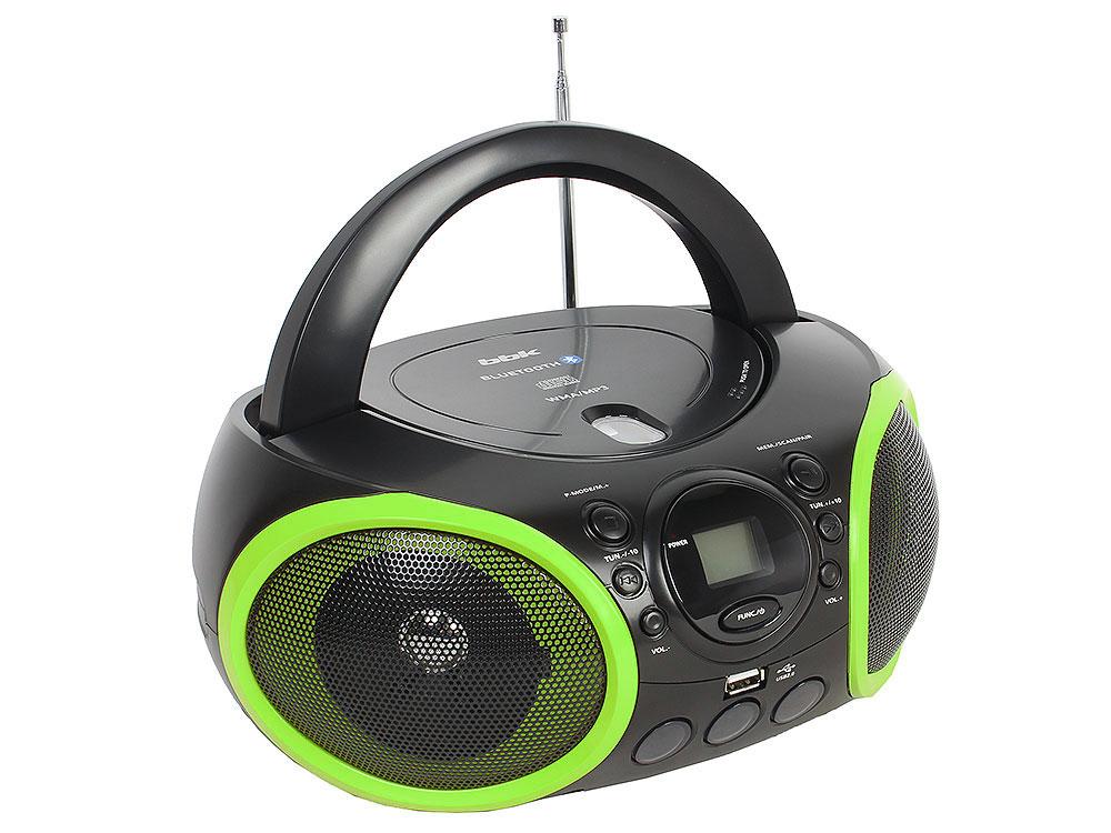 Аудиомагнитола BBK BX150BT черный/зеленый аудиомагнитола bbk bs10bt черный оранжевый