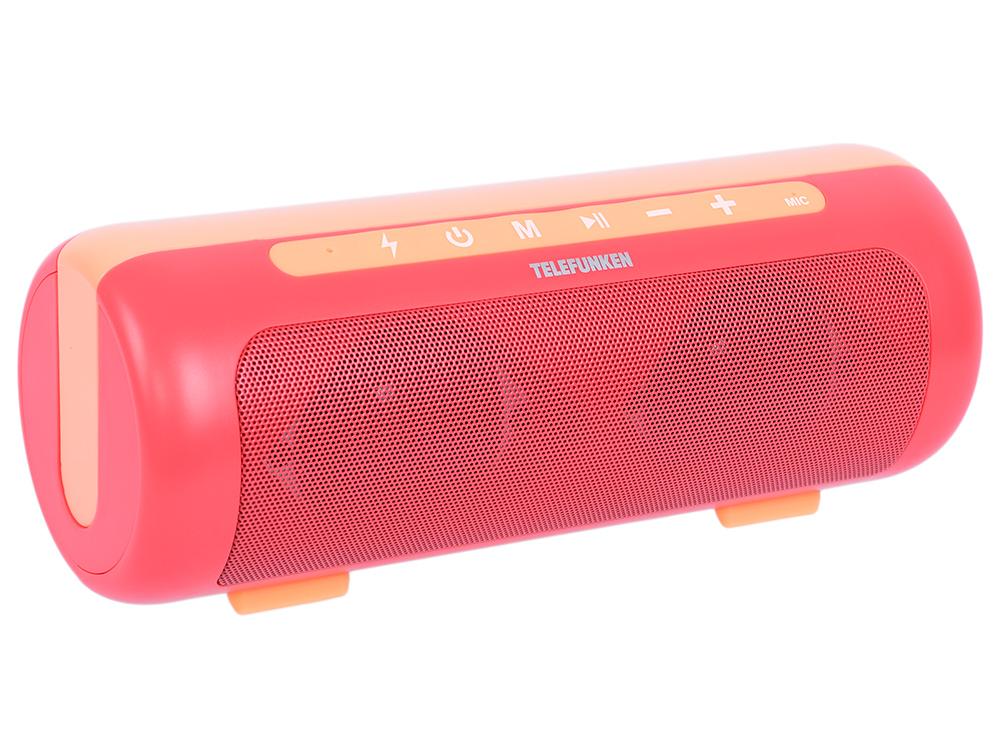 Магнитола Telefunken TF-PS1231B красный/оранжевый цены