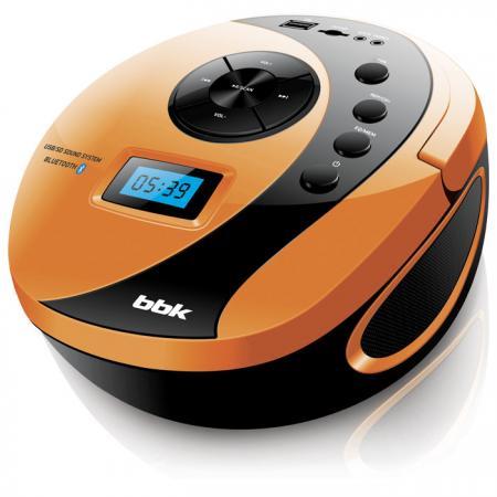 цена на Магнитола BBK BS10BT черный/оранжевый