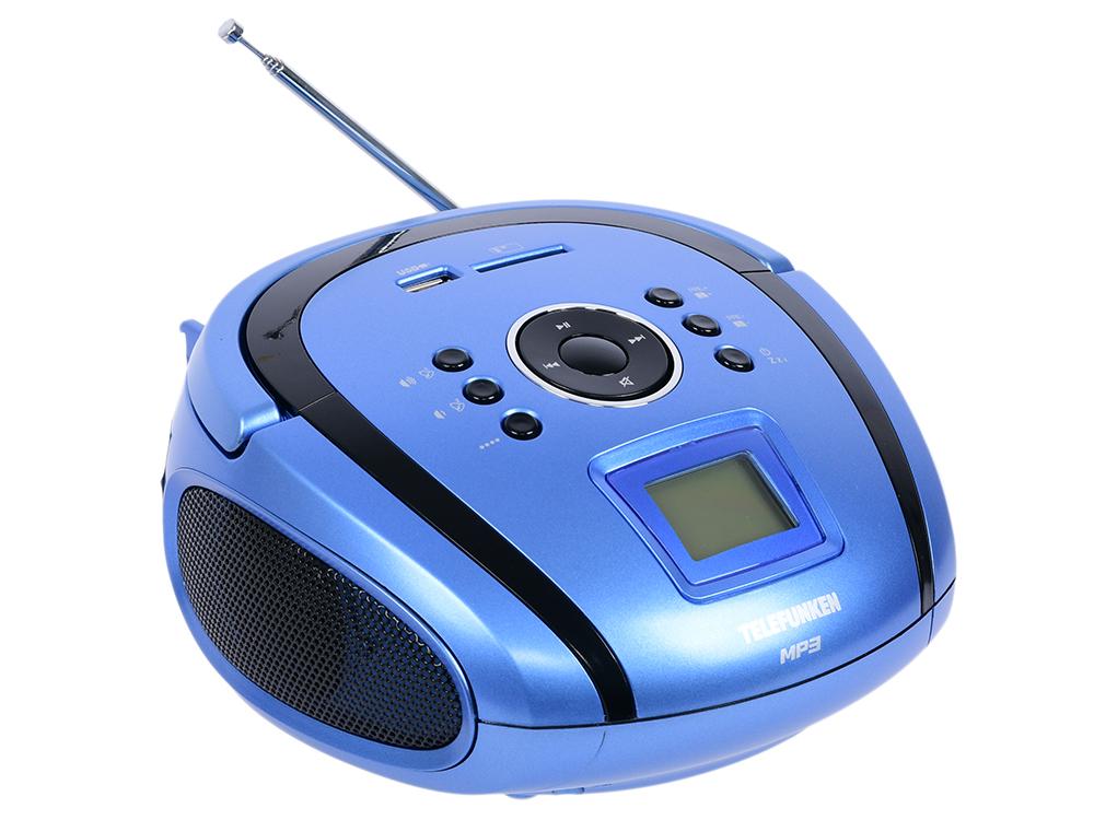 цена на Магнитола Telefunken TF-SRP3449(синий с черным)