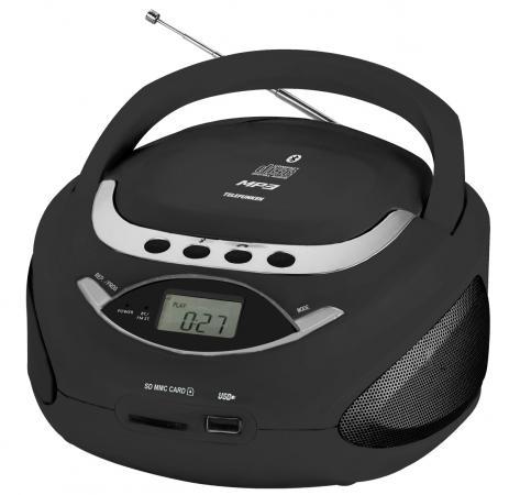 Аудиомагнитола Telefunken TF-CSRP3494B черный 2Вт/CD/CDRW/MP3/FM(an)/USB/BT/SD/MMC аудиомагнитола telefunken tf csrp3494b синий