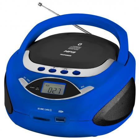 Аудиомагнитола Telefunken TF-CSRP3494B синий 2Вт/CD/CDRW/MP3/FM(an)/USB/BT/SD/MMC