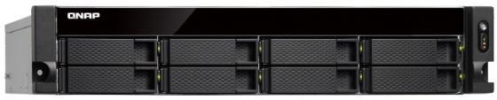 лучшая цена Сетевой RAID-накопитель QNAP TS-853BU-RP-4G 8 HDD trays, rackmount, 2 PSU. 4-core Intel Celeron J3455 1,5 GHz