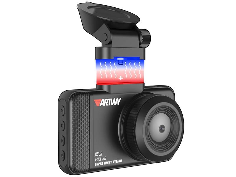 Видеорегистратор Artway AV-392 Full HD, WDR, угол обзора 170, магнитное крепление, экран 3 видеорегистратор японского производства с full hd съемкой