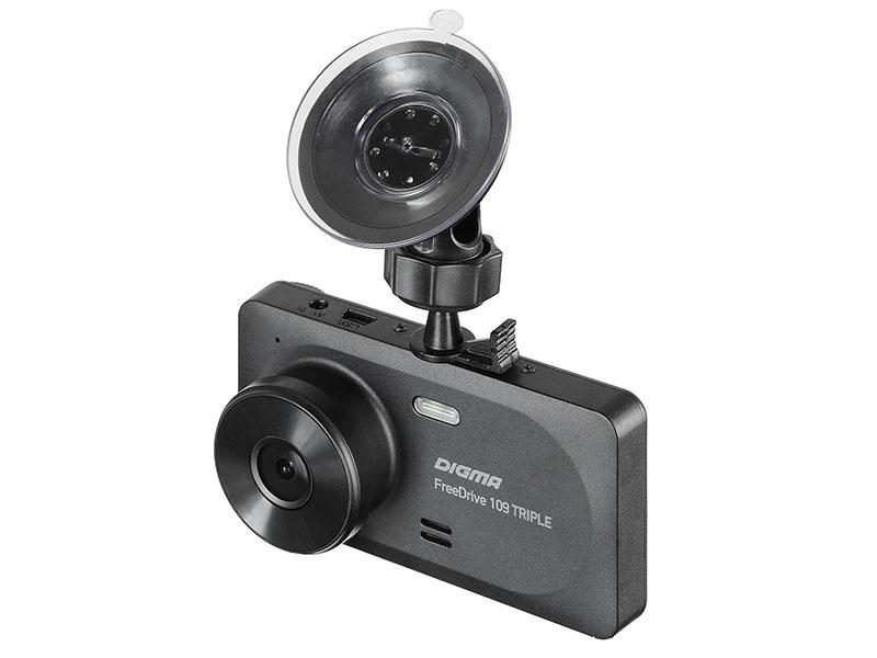 Видеорегистратор Digma FreeDrive 109 TRIPLE черный 1Mpix 1080x1920 JL5601 цена 2017