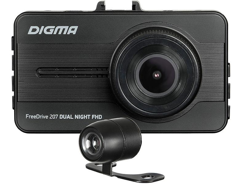 Видеорегистратор Digma FreeDrive 207 DUAL Night FHD черный 2Mpix 1080x1920 1080p 150гр. GP6248 цена 2017