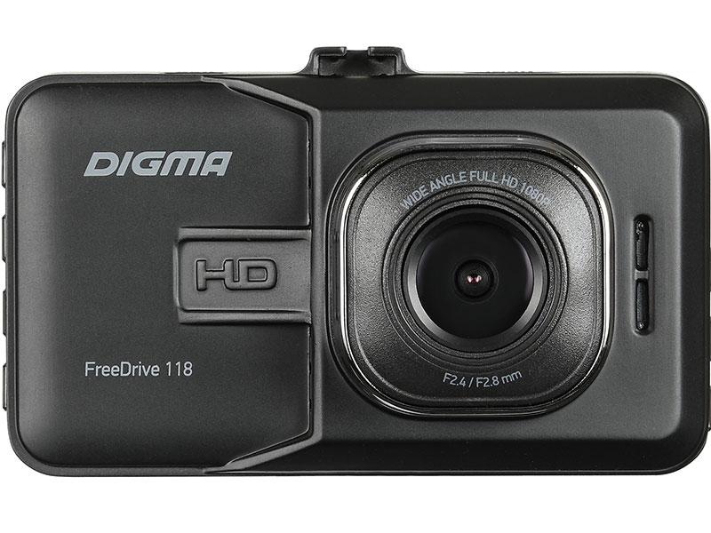 цена на Видеорегистратор Digma FreeDrive 118 черный 1.3Mpix 1080x1920 1080p 150гр. JL5112