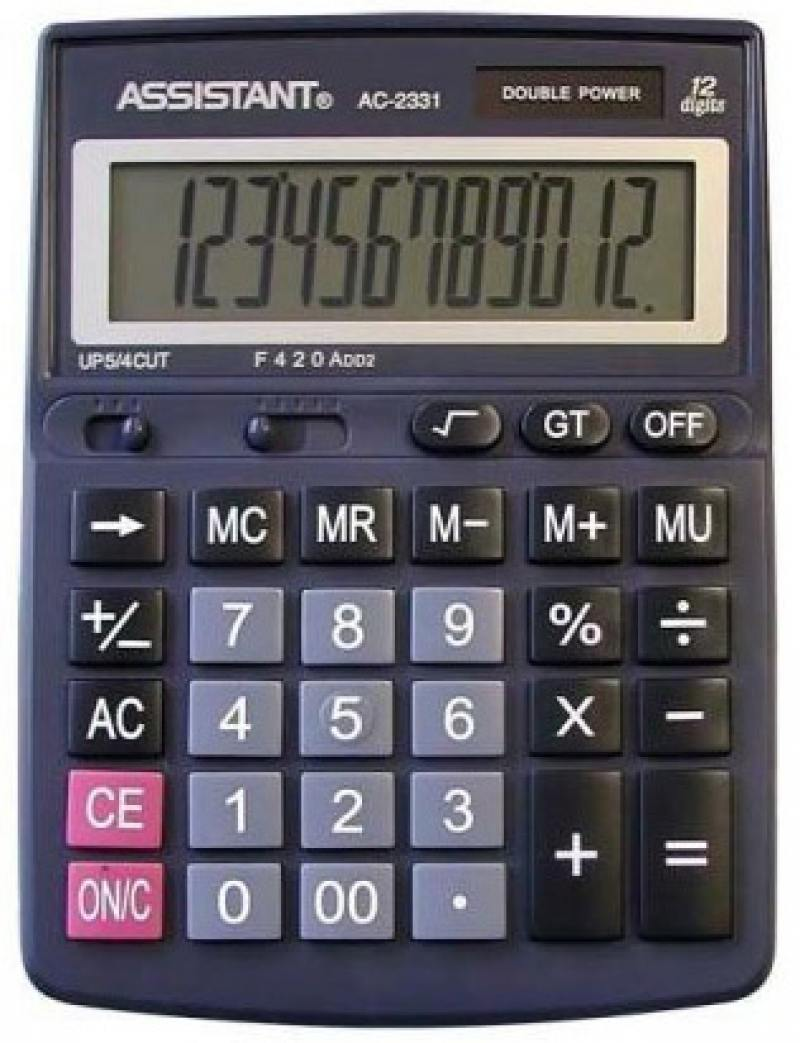 Калькулятор настольный Assistant AC-2331 12-разрядный  AC-2331