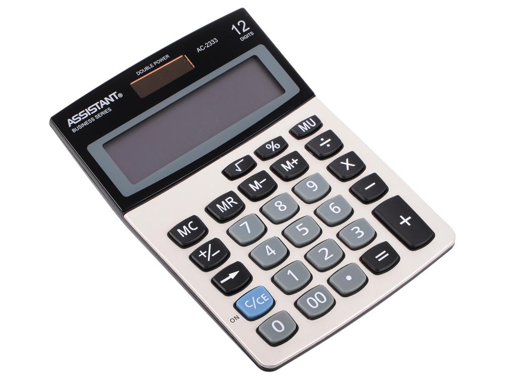 Калькулятор 12-разр., двойное питание, металл. панель, большой дисплей, вычис. %, разм.146х103х32 мм