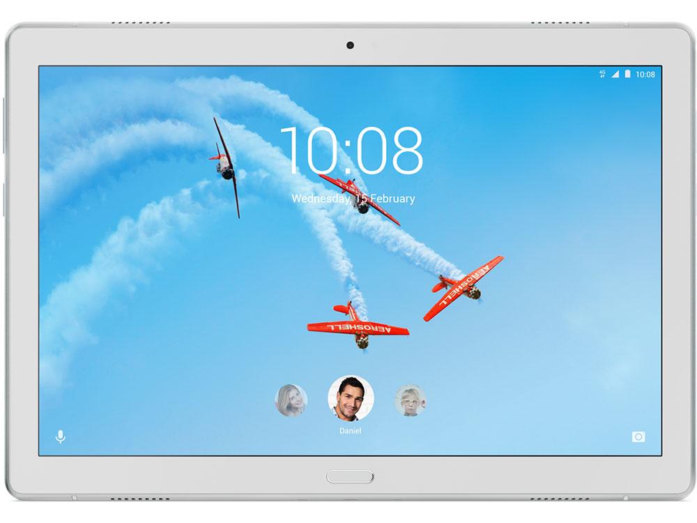 Планшет Lenovo Tab P10 TB-X705L Qualcomm Snapdragon 450 (1.8) / 4Gb / 64Gb / 10.1 IPS WUXGA / Wi-Fi / BT 4.2 / 3G / LTE / 8mpx+5mpx / Android 8.1 / White графический планшет wacom intuos draw pen s white ctl 490dw n